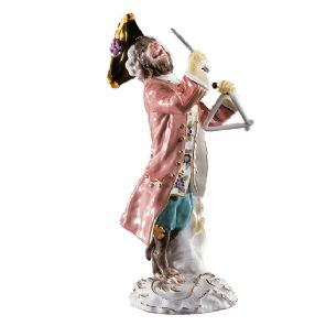 Meissen Monkey Band - Figurine of a Triangle Player